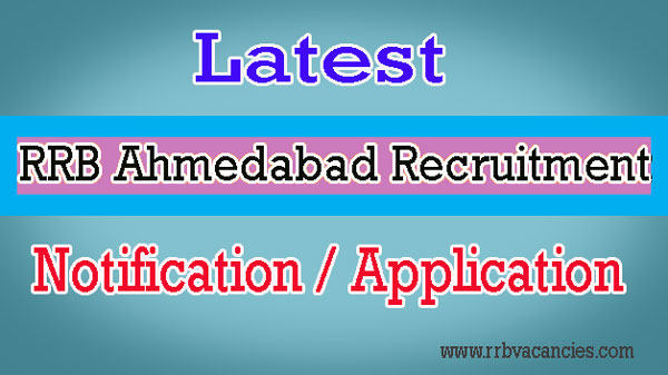 RRB Ahmedabad ALP Recruitment