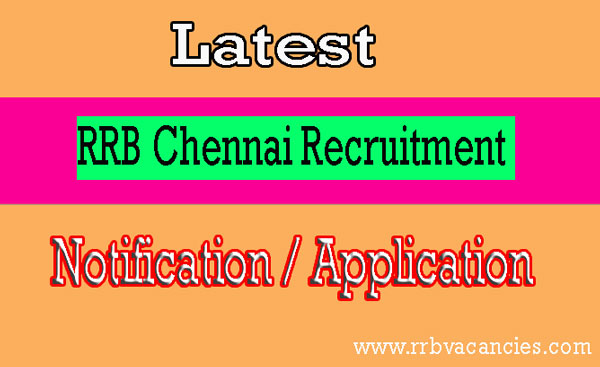 RRB Chennai ALP Recruitment