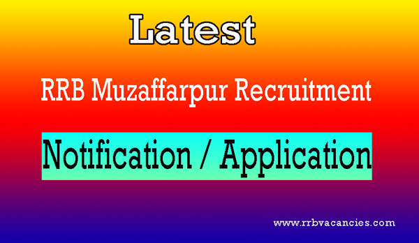 RRB Muzaffarpur ALP Recruitment