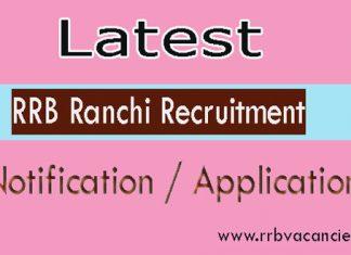 RRB Ranchi ALP Recruitment