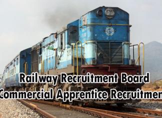 RRB Commercial Apprentice Recruitment