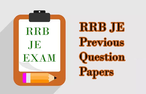 RRB JE Previous Question Papers