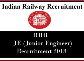 RRB JE Recruitment