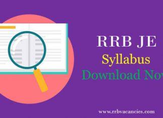 RRB JE Syllabus