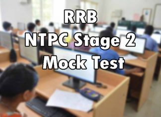 RRB NTPC Stage 2 Mock Test