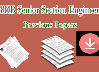 RRB SSE Previous Question Papers Download