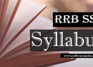RRB SSE Syllabus