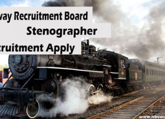 RRB Stenographer Recruitment