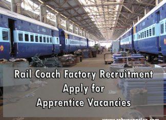 Rail Coach Factory Recruitment