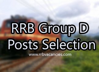 RRB Group D Posts Selection