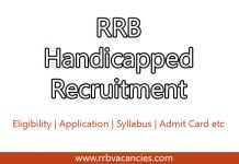 RRB Handicapped Recruitment