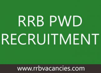 RRB PWD RECRUITMENT