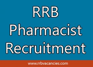 RRB Pharmacist Recruitment