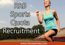 RRB Sports Quota Recruitment