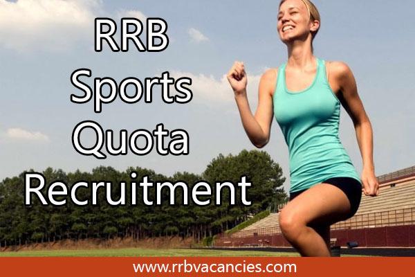 RRB Sports Quota Recruitment