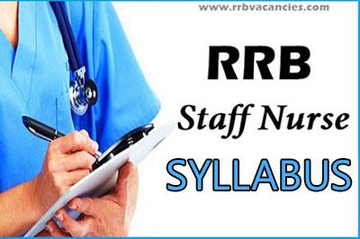 RRB Staff Nurse Syllabus
