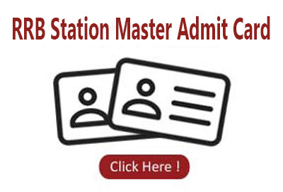 RRB Station Master Admit Card