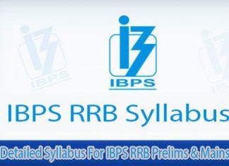 Detailed IBPS RRB Syllabus