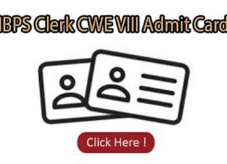 IBPS Clerk CWE VIII Admit Card