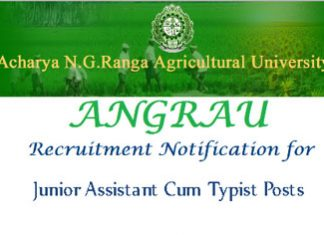 ANGRAU Recruitment