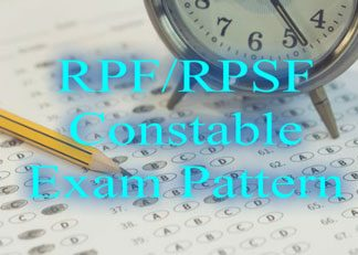 RPF/RPSF Constable Exam Pattern