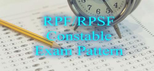 RPF/RPSF Constable Exam Pattern