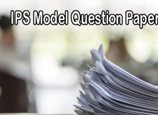 IPS Model Question Papers
