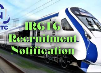 IRCTC Recruitment Notification