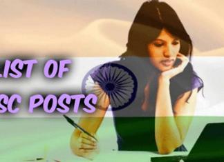 List Of UPSC Posts