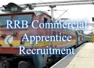 RRB Commercial Apprentice Recruitment