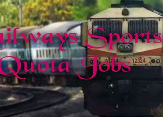 Railways Sports Quota Jobs
