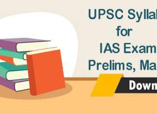 UPSC Syllabus for IAS Exam