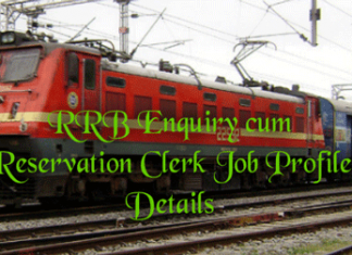 Enquiry cum Reservation Clerk Job Profile