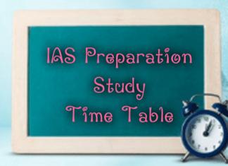 IAS Preparation Study Time Table