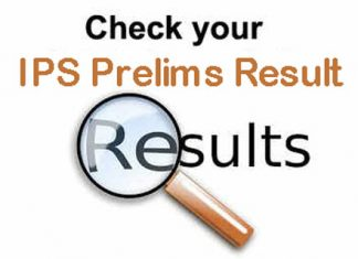 IPS Prelims Result