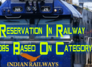 Reservation In Railway Jobs