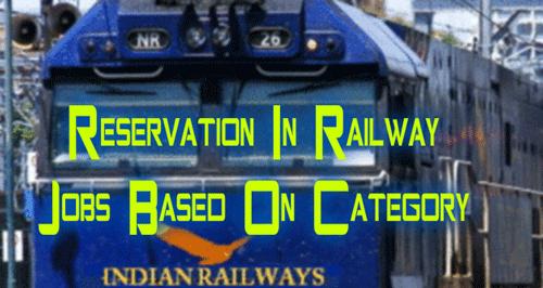 Reservation In Railway Jobs