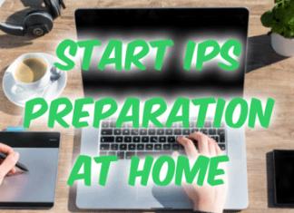 Start IPS Preparation At Home