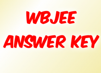 WBJEE Answer key