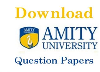 Amity University Gurgaon Question Papers
