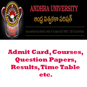 Andhra University Time Table 2019 | Exam Days