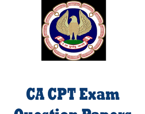 CA CPT Question Papers