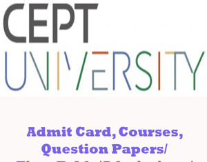 Center For Environmental Planning and Technology Question Papers