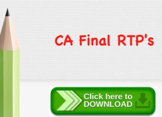 Download CA Final RTPs