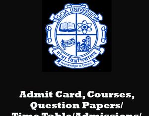 Goa University Previous Question Papers