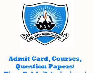 Kadi Sarva Vishwavidyalaya Question Papers