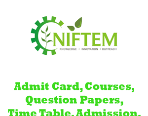 NIFTEM Question Papers