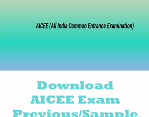 AICEE Question Papers