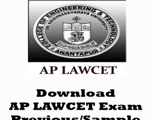 AP LAWCET Question Papers