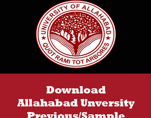 Allahabad University Question Papers